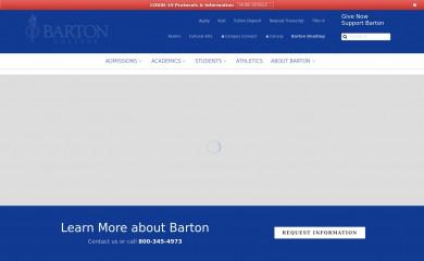 barton.edu screenshot