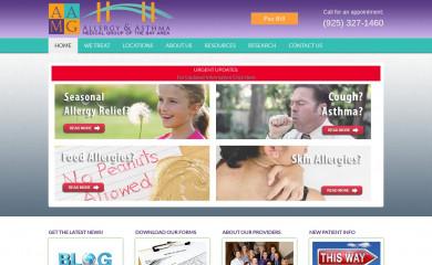 bayareaallergy.com screenshot