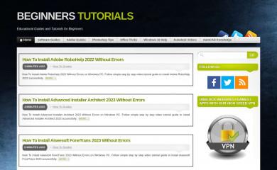 beginners-tutorials.info screenshot