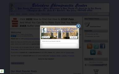 belviderechiropractic.com screenshot