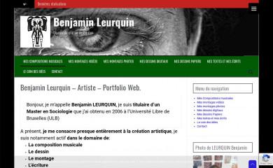 http://benleurquin.be screenshot