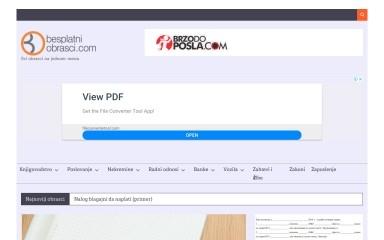 besplatniobrasci.com screenshot