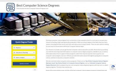 bestcomputersciencedegrees.com screenshot
