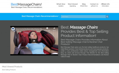 bestmassagechairs.in screenshot