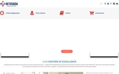 bethsaidahospitals.com screenshot