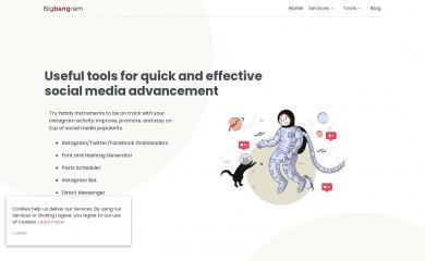 bigbangram.com screenshot