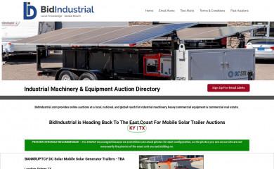 bidindustrial.com screenshot