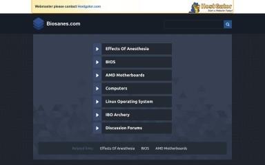 biosanes.com screenshot