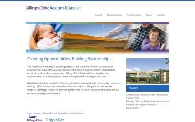 billingsclinicregionalcare.com screenshot