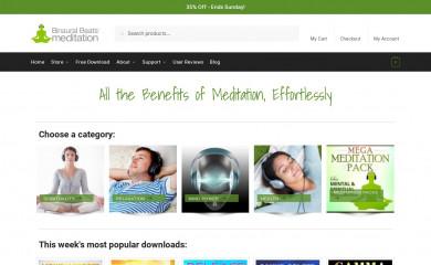 binauralbeatsmeditation.com screenshot