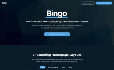 http://bingo.themeruby.com/ screenshot