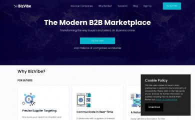 bizvibe.com screenshot