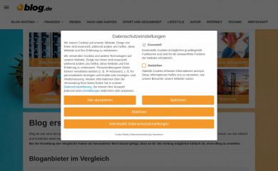 blog.de screenshot