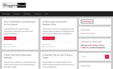 bloggersroad.com screenshot