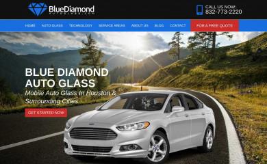bluediamondautoglass.com screenshot
