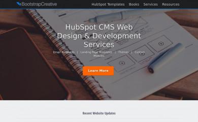 bootstrapcreative.com screenshot