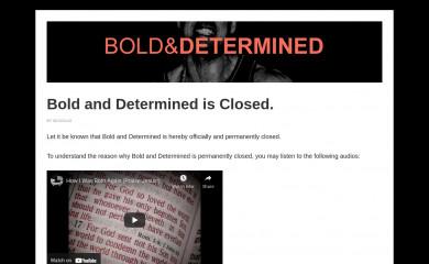 http://boldanddetermined.com screenshot