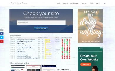 http://brandnewblogs.com screenshot