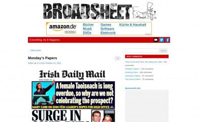 http://broadsheet.ie screenshot