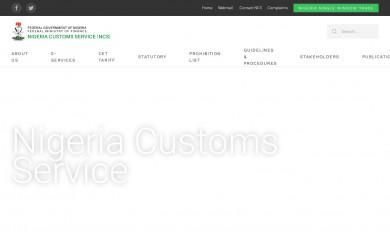 http://customs.gov.ng screenshot