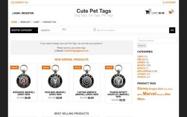 cutepettags.com screenshot
