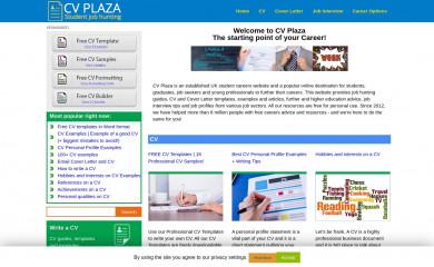 cvplaza.com screenshot