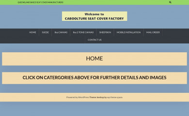 cabooltureseatcoverfactory.com.au screenshot