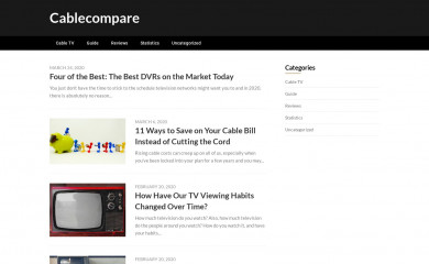 cablecompare.com screenshot
