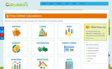 calculators.org screenshot