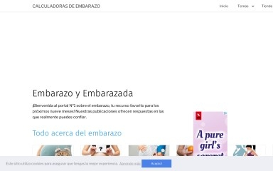 calculadorasdeembarazo.com screenshot