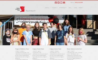calgarychildrenschoir.com screenshot