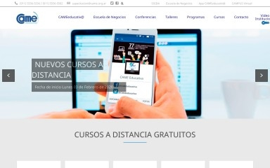 came-educativa.com.ar screenshot