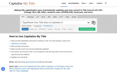 capitalizemytitle.com screenshot