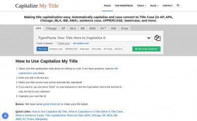 capitalizemytitle.com screenshot