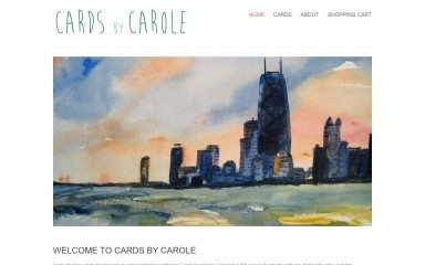 cardsbycarole.com screenshot