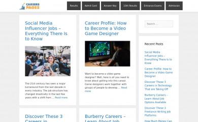 careerspages.com screenshot