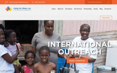 caring4others.org screenshot