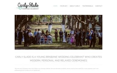carlysladeweddings.com.au screenshot