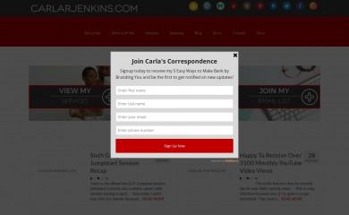 carlarjenkins.com screenshot