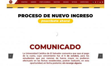 catolica.edu.sv screenshot