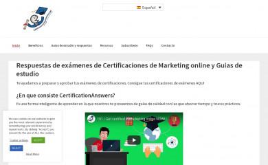 certificationanswers.com screenshot