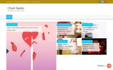 http://chantspells.com screenshot