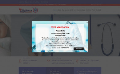 chaitanyahospital.org screenshot