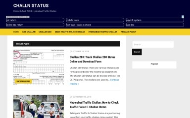 challanstatus.co.in screenshot