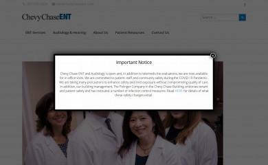 chevychaseent.com screenshot