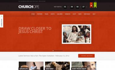 http://churchope.themoholics.com/ screenshot