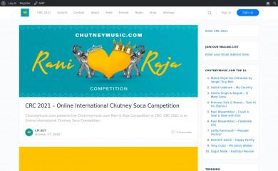 chutneymusic.com screenshot
