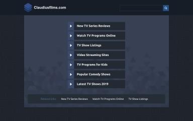 claudiusfilms.com screenshot