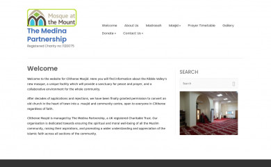 clitheroemosque.org screenshot