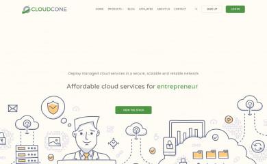 http://cloudcone.com screenshot